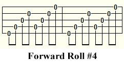 Four finger style banjo - forward roll #4
