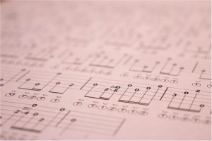 Photo of banjo tablature